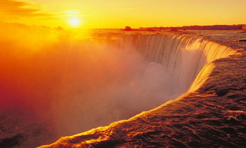 Sunset Niagara Falls